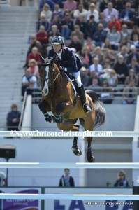 """FRANCE, Le La Baule : BEN MAHER RIDING ON URICO  during Furusiyya FEI Nations Cup"""" of the Jumping CSIO of France on May 15-18th, 2014,  in La Baule, France - 16/05/14 - Photo Christophe Bricot. Information : Editorial use only - Please, Contact photogra"""