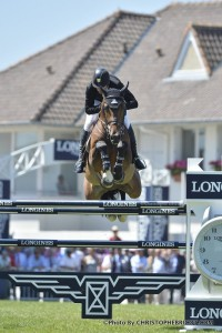 FRANCE, Le La Baule : ERIC LAMAZE RIDING ON POWERPLAY (WINNER)   during the GRAND PRIX LONGINES VILLE DE LA BAULE in the Jumping CSIO of France on May 15-18th, 2014,  in La Baule, France - 18/05/14 - Photo Christophe Bricot. Information : Editorial use on