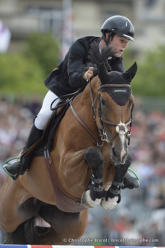FRANCE, Paris : CONSTANT VAN PAESSCHEN RIDING ON CITIZENGUARD CADJANINE Z  during THE GRAND PRIX of the Longines Global Champions Tour of Paris Eiffel Jumping presented by Gucci 2014 - Champs de Mars , Paris Tour Eiffel (Eiffel Tower)- 05/07/14 - Photo Chr