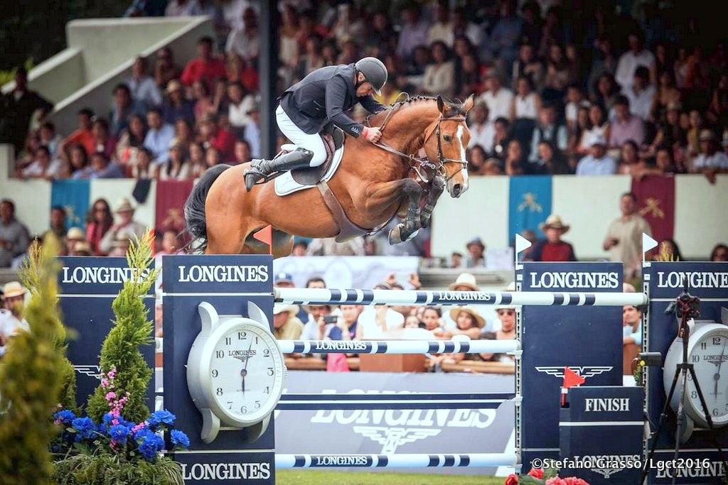 LGCT of Mexico City - Roger Yves Bost on Qoud'Coeur de la Loge wins the Longines Global Champions Tour of Mexico City Mexico City,16th april 2016 ph.© Stefano Grasso/LGCT all rights reserved
