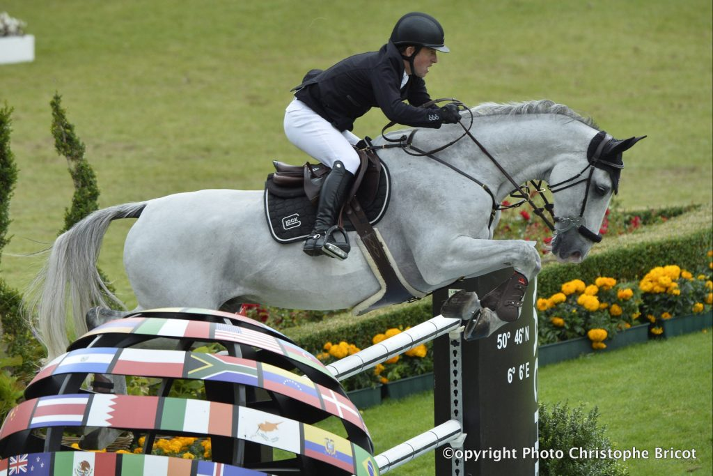 Germany, Aachen : Gerco SCHRÖDER riding Glock's Cognac Champblanc N.O.P. during the Rolex Grand Prix , CHIO of Aachen, World Equestrian Festival, in July 17th , 2016, in Aachen, Germany - Photo Christophe Bricot