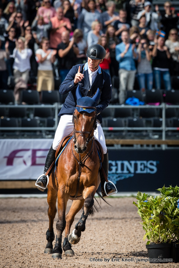 Photographie Eric KNOLL. Longines FEI European Championships Gothenburg 2017. Finale IndividuellePeder Fredricson (SWE) riding H&M All In