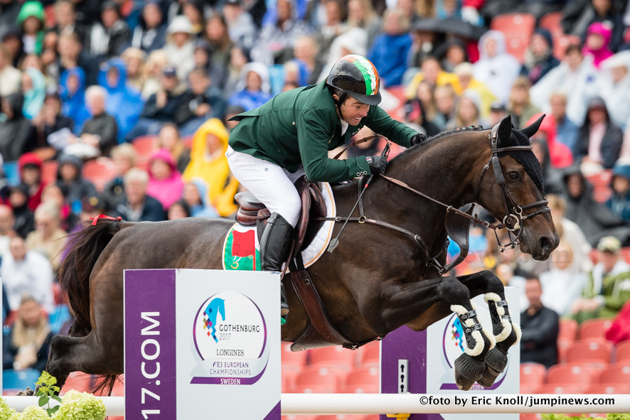 Photographie Eric KNOLL. Longines FEI European Championships Gothenburg 2017. Team Competition Round 1.Cian O'Connor (IRL) riding Good Luck